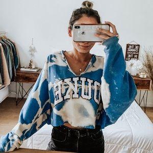 Tops - Duke University Bleached Upcycled Sweatshirt